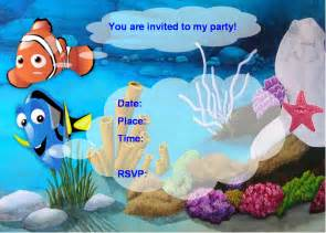 finding nemo invitations template free finding nemo ideas creative printables