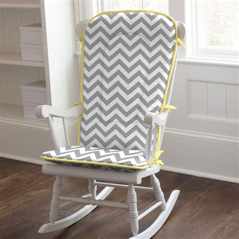 Yellow Grey Chair Design Ideas Gray And Yellow Zig Zag Rocking Chair Pad Carousel Designs