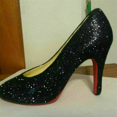 ceramic high heel shoe ceramic high heel shoe bottom with black glitter