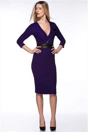 milla by trendyol outlet yaka detaylı mor elbise