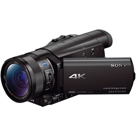and camcorder sony fdr ax100 4k ultra hd camcorder fdrax100 b b h photo