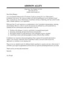 administrative coordinator cover letter administrative coordinator cover letter exles