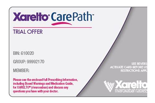 free trial coupon for xarelto