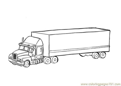 Coloring Pages Cars And Vehicles Tractor Trailer Truck Tractor Trailer Coloring Pictures