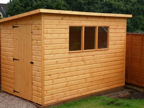 quality pent roof wooden garden storage shed ebay