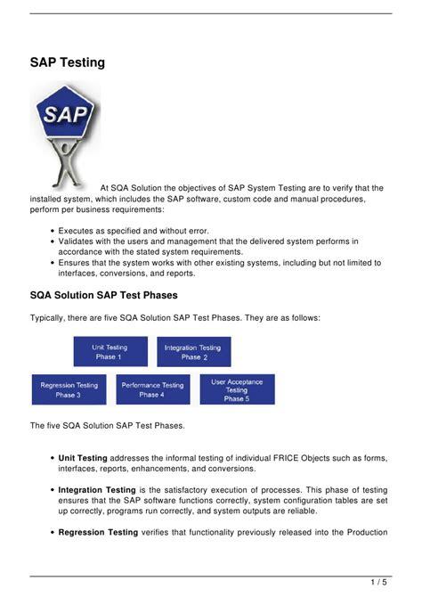 sap testing tutorial ppt sap testing