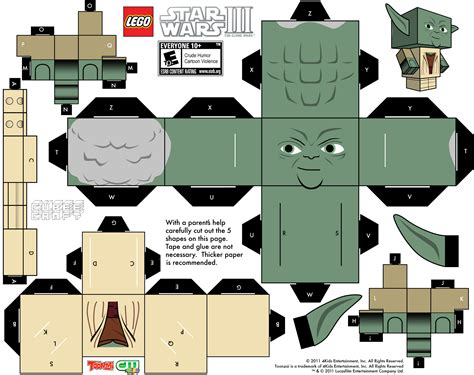 Papercraft Printable Templates - 18 best photos of papercraft template wars