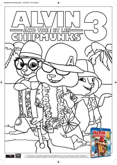 kleurplaat alvin chipmunks 3 kleurplaten nl