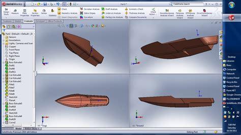 solidworks tutorial boat radical boat hull solidworks 3d cad model grabcad