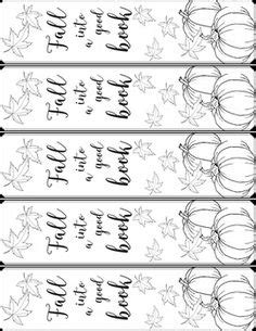 printable autumn bookmarks to color free printable fall coloring page bookmarks book