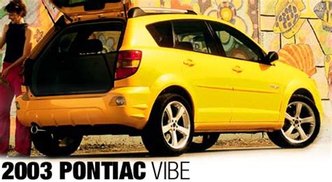 2003 pontiac vibe first look road test motor trend