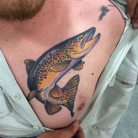 fly fishing tattoos trout with lure by matt miskol at yellow salt