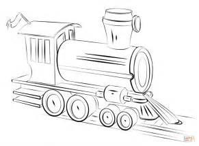 steam train locomotive coloring page free printable