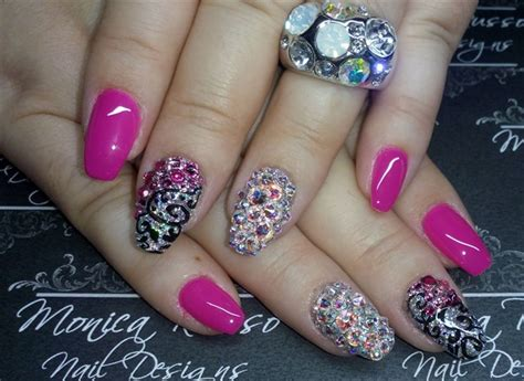 monica russo nail designs day 261 textures shimmers nail art nails magazine