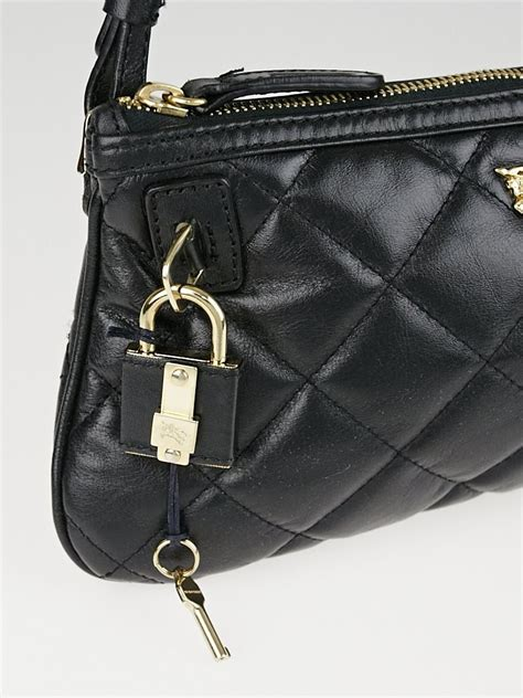 Burberry Quilted Bag by Burberry Black Quilted Leather Small Manor Pochette