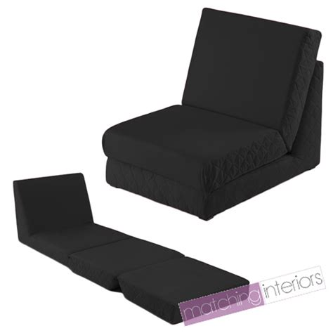 Fold Out Futon Chair by Black Fold Out Z Bed Single Chair 1 Seat Chair Guest Bed