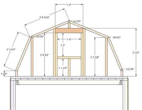 Gambrel Barn Plans | micro gambrel plans tiny house design