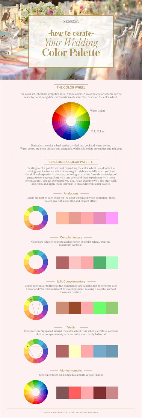 create wedding color palette how to create the wedding color palette