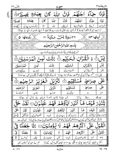 Quran Surah 36 ﴾يس﴿ Ya-Seen, Yasin Urdu Translation