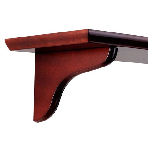knape vogt 7 in cherry wood decorative shelf corbel