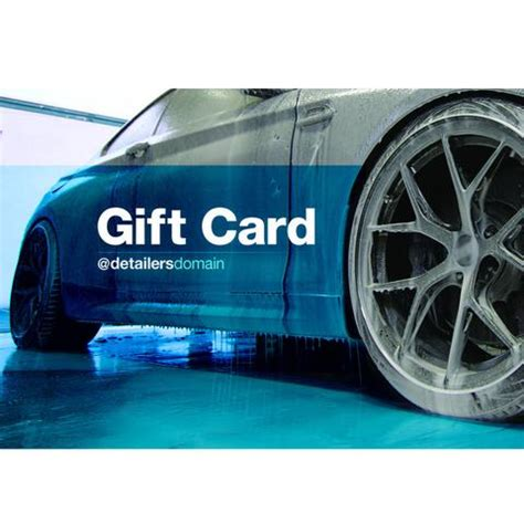 Domain Gift Card - the best place for all your automotive detailing products