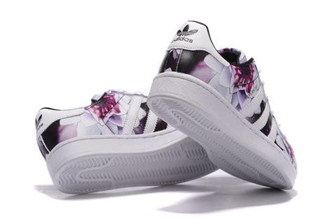 adidas soccer s adidas originals superstar lotus print casual shoes white