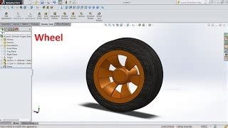 tutorial solidworks wheel how to draw wheel and axle