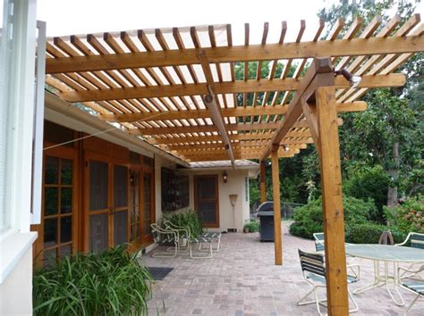 Patio Trellis Plans timbersil 174 glass wood patio trellis pacific palisades ca timbersil 174 projects and news