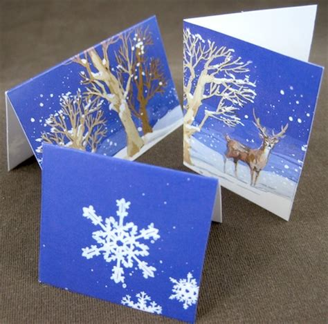 Make Gift Cards - make small folded jewelry gift tags from christmas cards jewelry making journal
