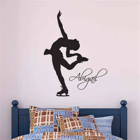 personalised wall stickers uk personalised skater wall sticker s name wall