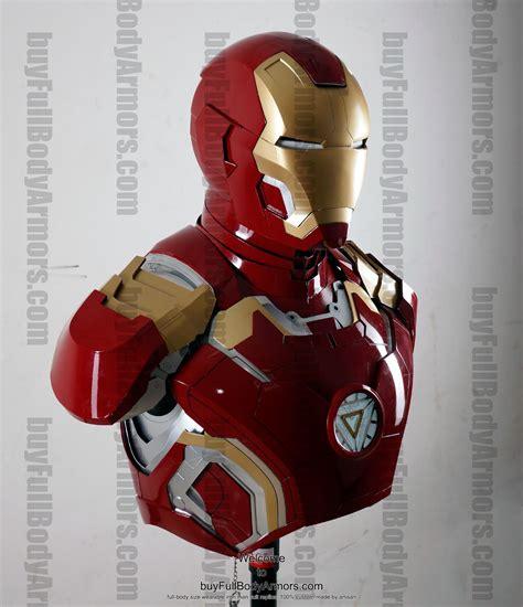 wearable iron man mark xliii suit costume bust