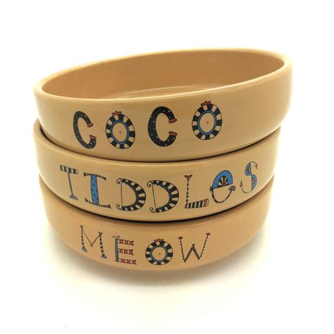 personalised bowls personalised cat bowl by fellows notonthehighstreet