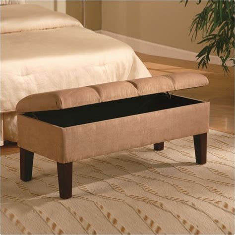 bedroom ottoman bridal veil microfiber bedroom storage ottoman modern