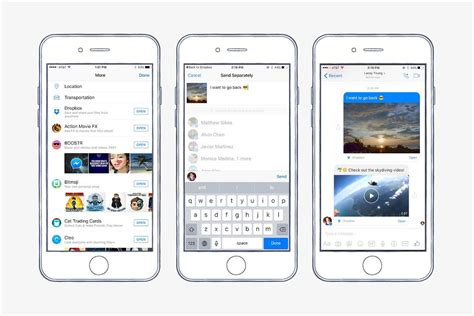 messenger mobile messenger can now send and preview dropbox files