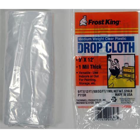 clear plastic drop cloth 10u0027 x king p115r medium weight plastic drop cloth 9 x