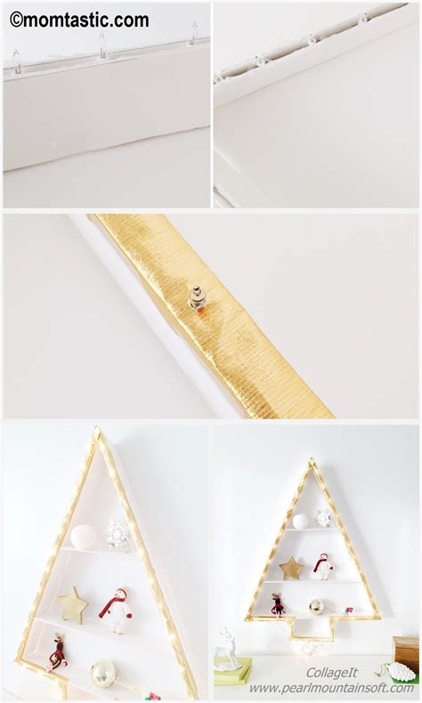 christmas tree shelf lights diy tutorial diy home tutorials