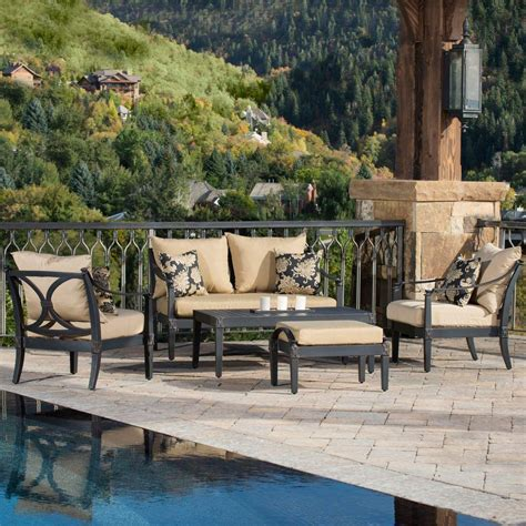rst brands astoria 5 patio seating set with delano