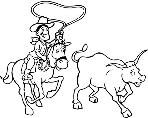 cowboy coloring pages rodeo coloring pages