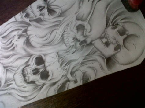 skull collage tattoo designs skull sleeve design by tattoosuzette on deviantart
