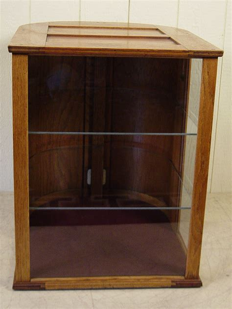 Curved Cabinet Doors Oak Counter Display Cabinet With Curved Doors