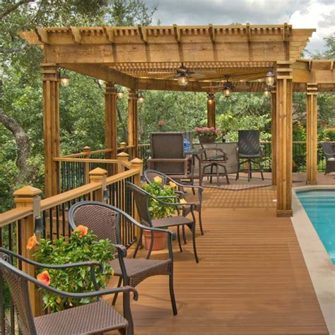 build a l shade get a pergola or trellis designed for your space