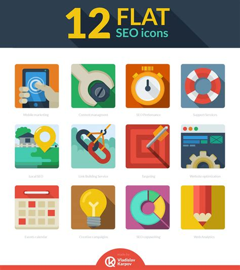 flat design icon download free download 12 flat seo icons webdesigner depot