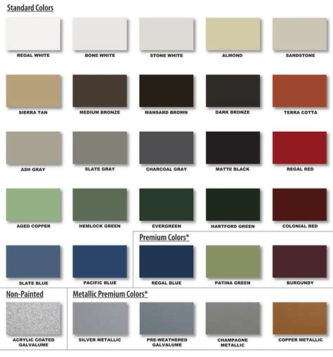 metal roof colors metal roof color sles
