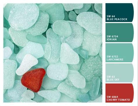 coastal decor color palette teal sea glass colors mint teal aquas