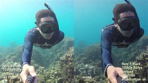 gopro 5 black vs gopro 4 black underwater comparison indonesia
