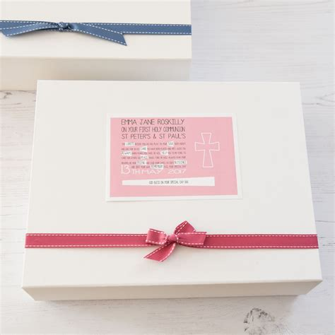 personalised first holy communion keepsake box for girl