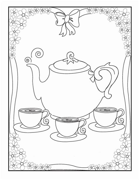 creative tea time coloring book coloring books tea coloring pages birthday printable