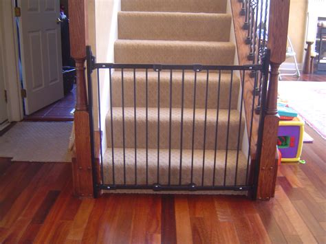 baby gate for bottom of stairs with banister iafcs focuses on baby gates for baby safety month