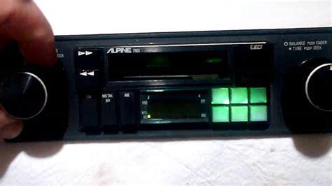 cassette car stereo vintage alpine 7162 am fm cassette car stereo