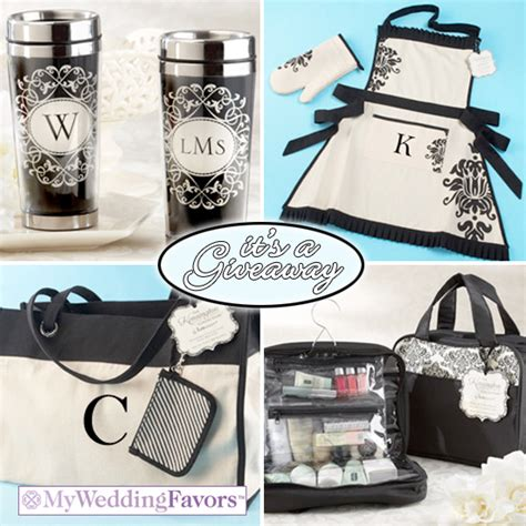 Bridal Shower Giveaway Ideas - giveaway win a personalized gift set from my wedding favors